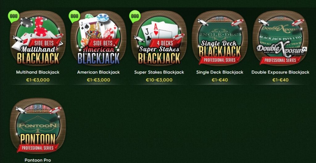 888casino Blackjack spielen